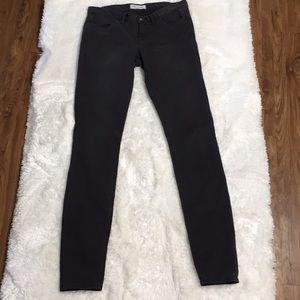 Madewell Faded Black Skinny Stretch Jeans